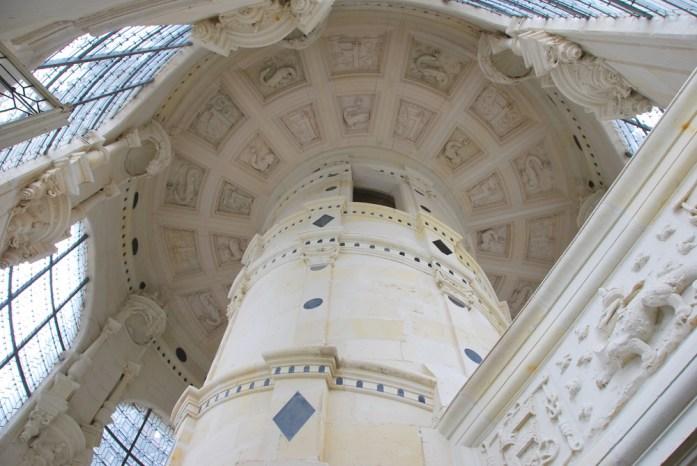 Château de Chambord - sommet de l'escalier