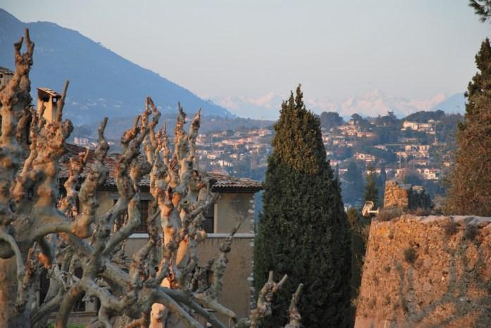Saint Paul de Vence - panorama sur les Alpes