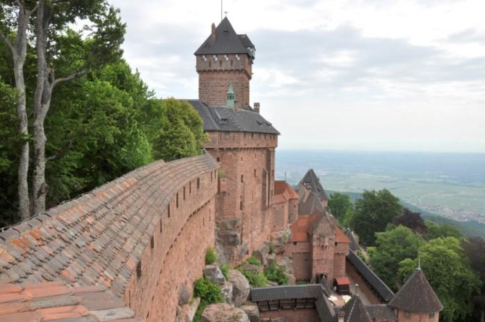 Du Haut Koenigsbourg à la route des Crêtes - vue depuis le grand bastion