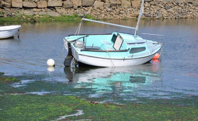 La Marinière en Voyage - bateau à marée basse