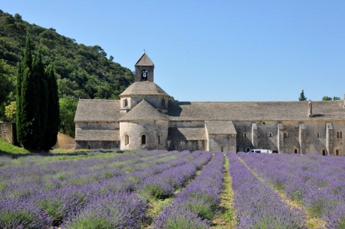 La Marinière en Voyage - lavande autour de l'abbaye de Sénanque