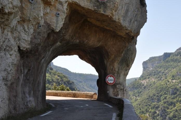 La Marinière en Voyage - Tunnel des gorges de la Nesque