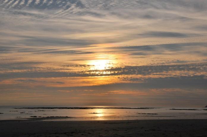 La Marinière en voyage - coucher de soleil sur la Côte des Havres