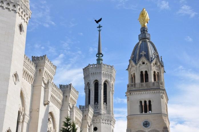 La Marinière en Voyage - Clocher de la basilique de Fourvière