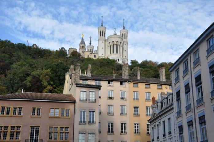 La Marinière en Voyage - Fourvière vue du Vieux Lyon