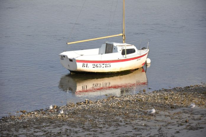 Barque à Saint Valéry dans la Baie de Somme