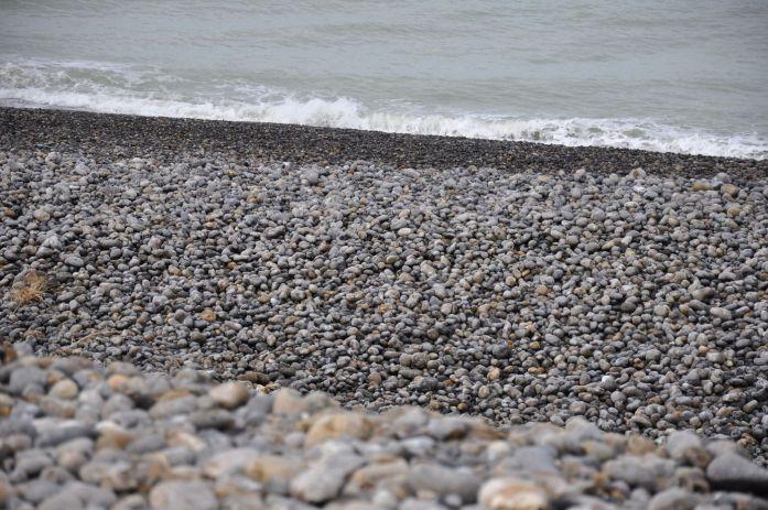 Plage de galets à Cayeux-sur-mer