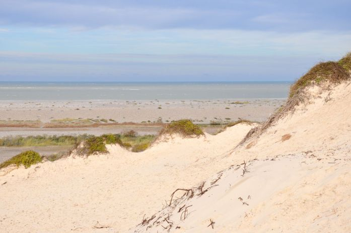 Dunes de la route blanche dans la Baie de Somme