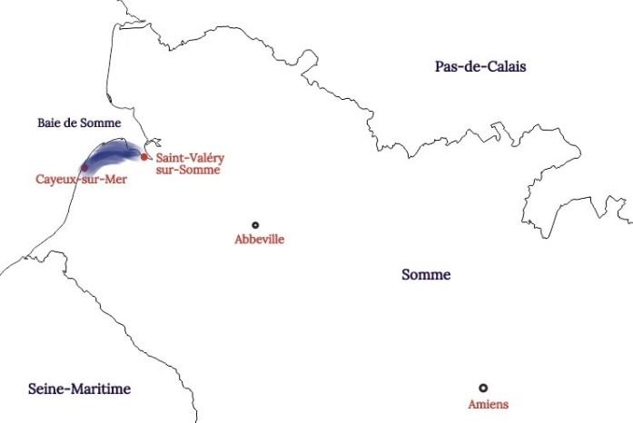 Carte de la Baie de Somme