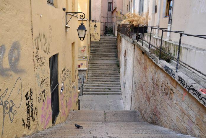 Week-end à Lyon : escaliers de la Croix-Rousse