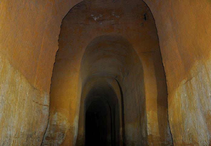 A l'intérieur des Mines de Bruoux