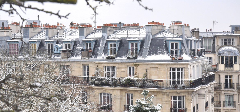 Paris sous la neige à Montmartre