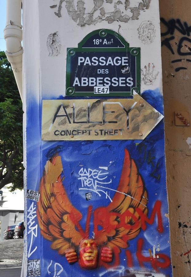 Street-art à Montmartre - Blog La Marinière en Voyage