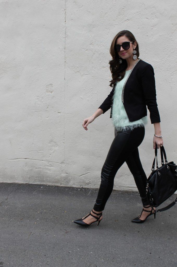 La Mariposa: Date Night in Leather & Feathered Mint
