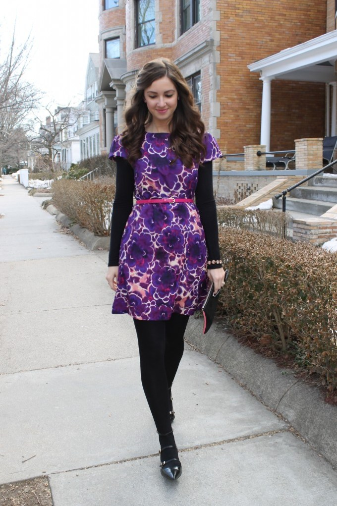 Purple & Pink Shift Dress