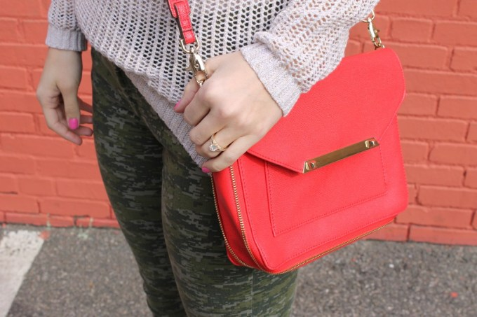 Poppy Red Crossbody Bag