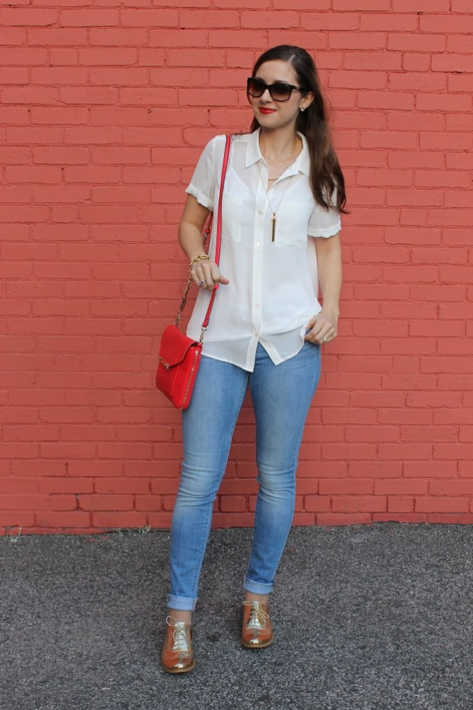 Casual White Collar Blouse