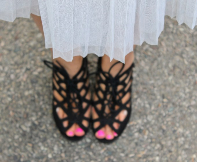 Mia Cutout Wedges