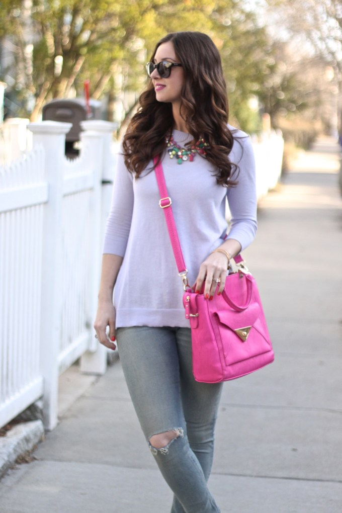 Lavender and Baby Pink