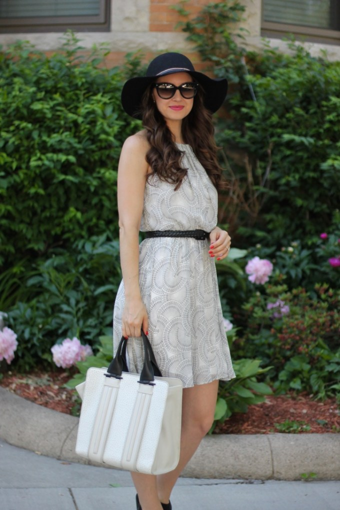 Black and White Summer Dress