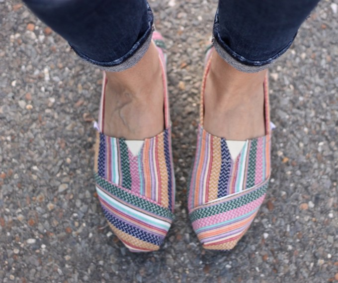 Colorful Toms shoes