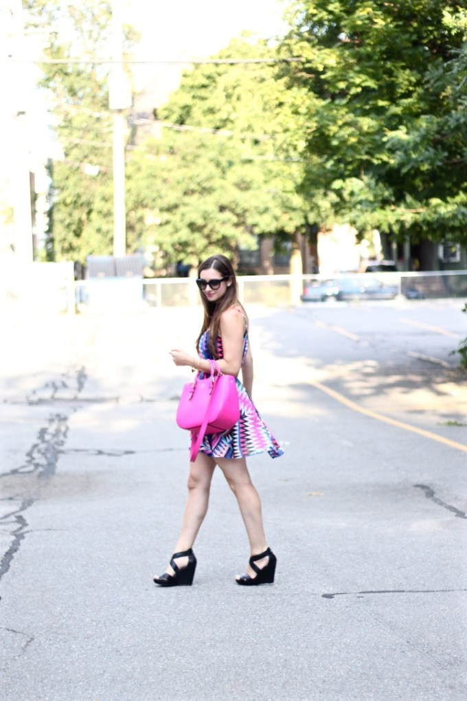 Pink, Cobalt and Black Summer Style