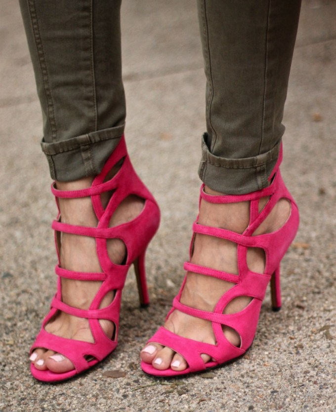 Michael Kors Casey Suede Sandal in Pink