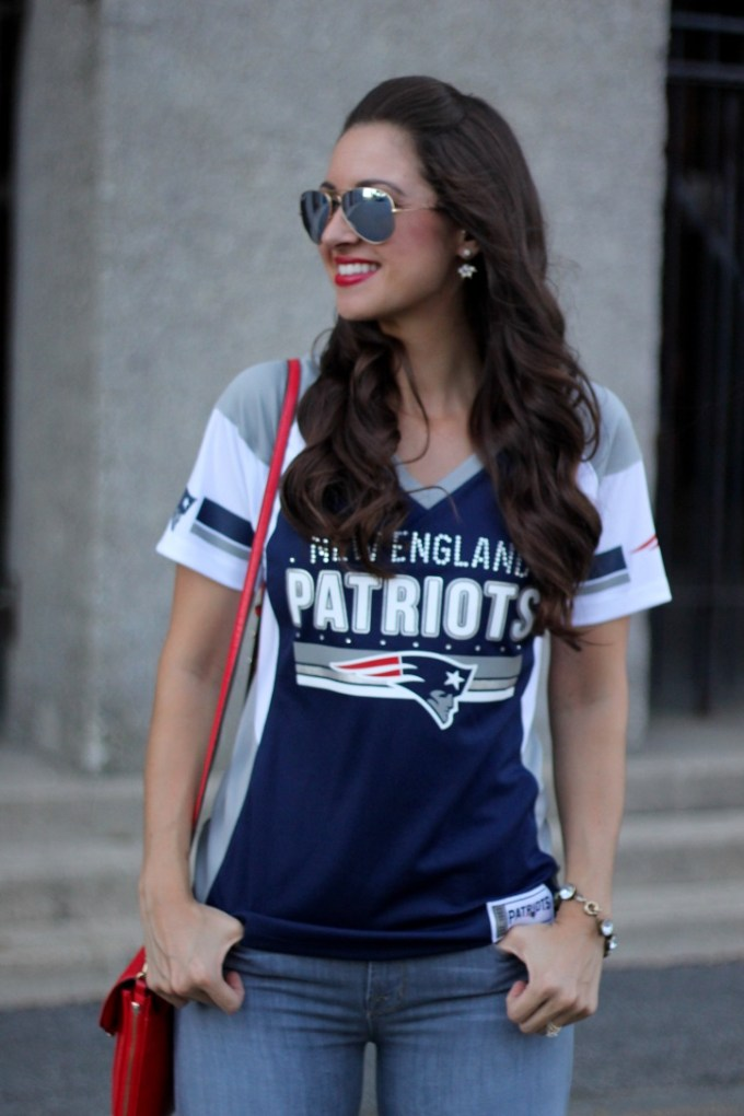 Majestic Draft Me NFL Fashion Jersey Top; La Mariposa;
