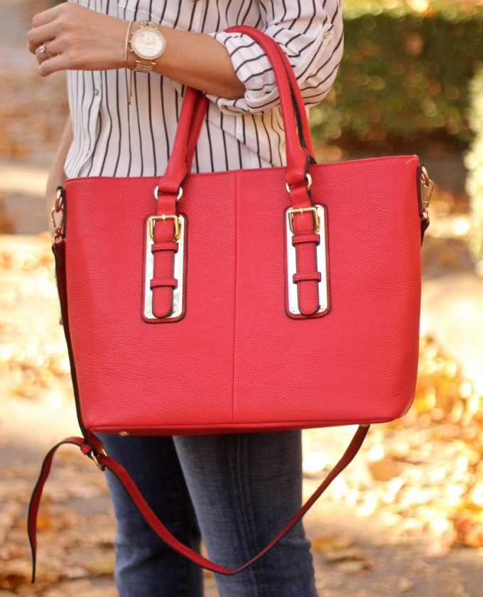 Charming Charlie Red Tote