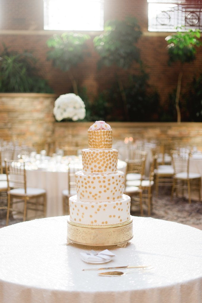 Gold, Champagne and Cream Sequin Michigan Wedding