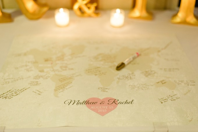 Etsy Neutral Map Wedding Guestbook Sign-in