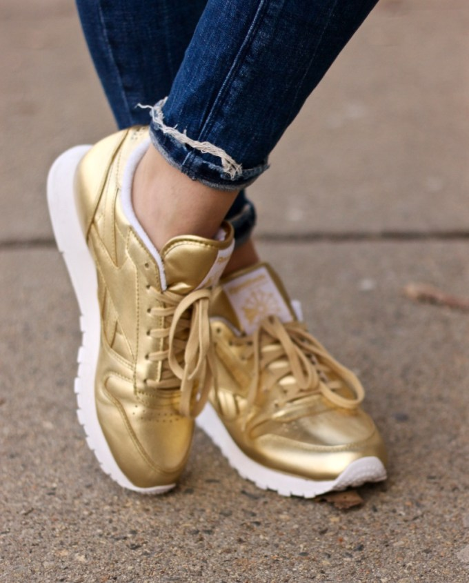 Reebok x FACE Stockhold Gold Sneakers