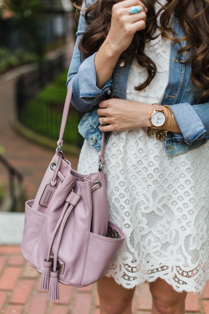 Tignanello Lavender Bucket Bag
