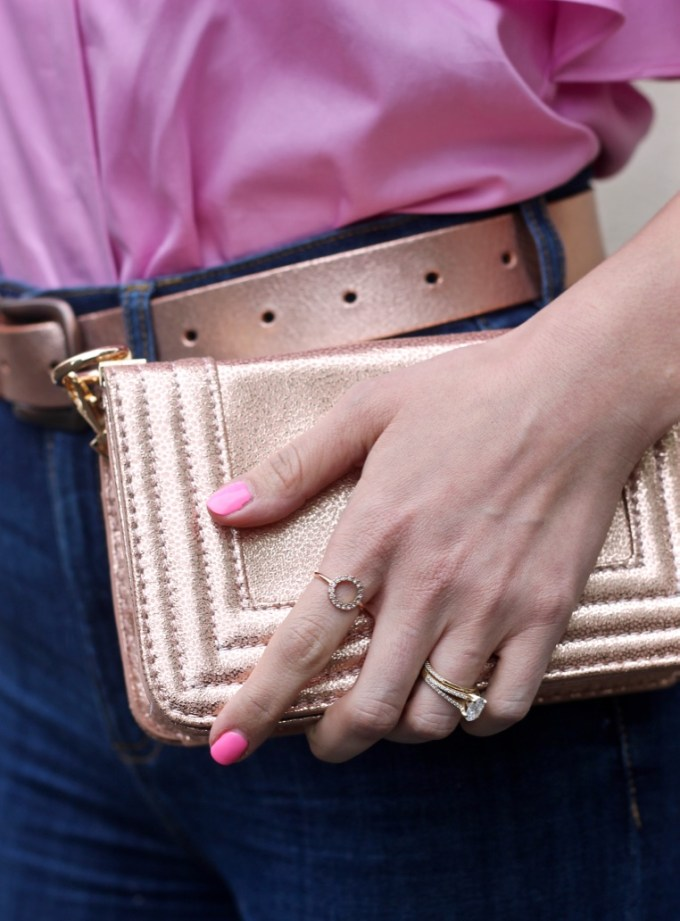 Rose Gold Purse and Belt