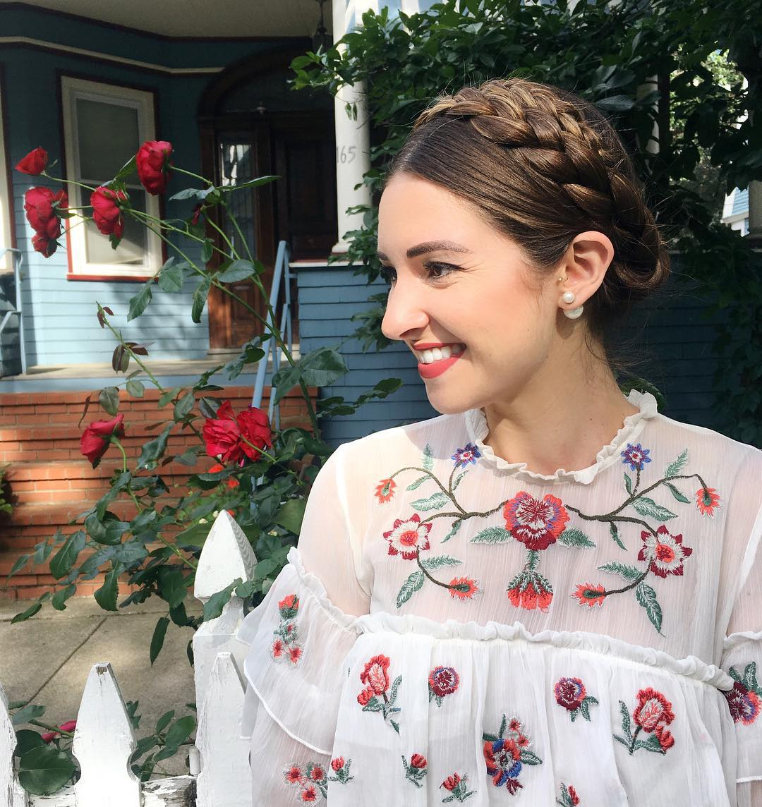 Finally tried out milkmaid braids yesterday and I loved them!hellip
