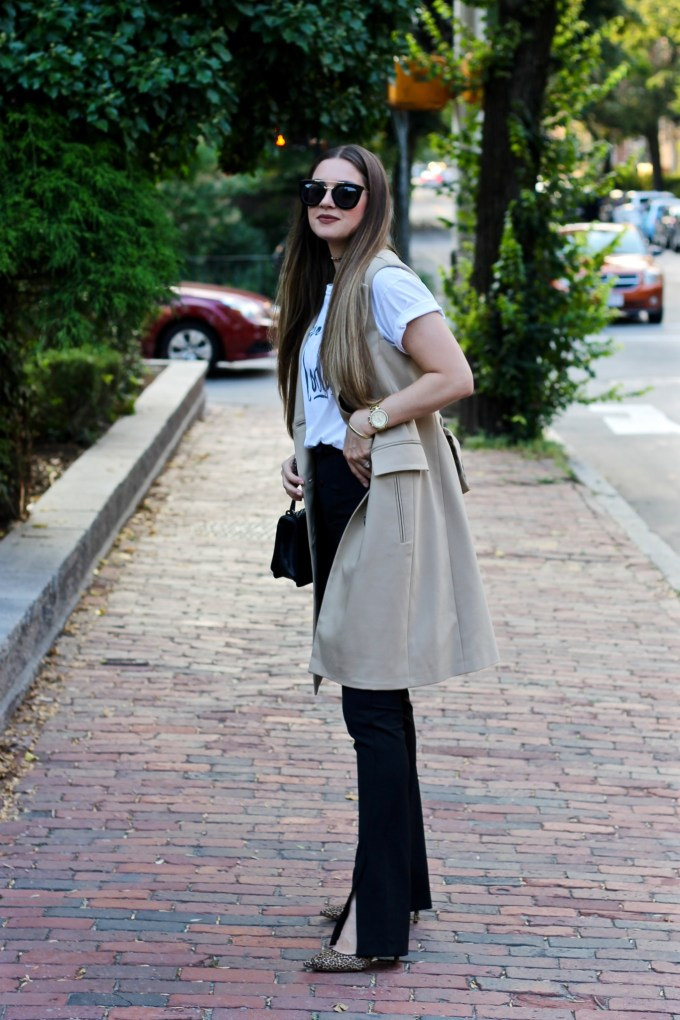 Sleeveless Trench Coat, Zara Double Breasted Waist Coat