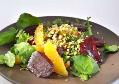 Salade betteraves agrumes