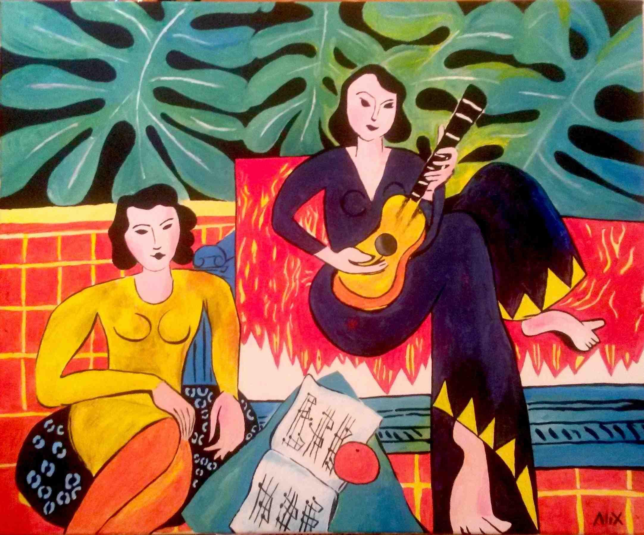 Henri Matisse Matisse La Musique Peinture Acrylique
