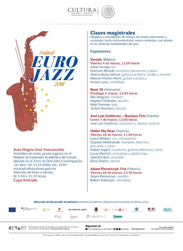 Clases magistrales Eurojazz 2016