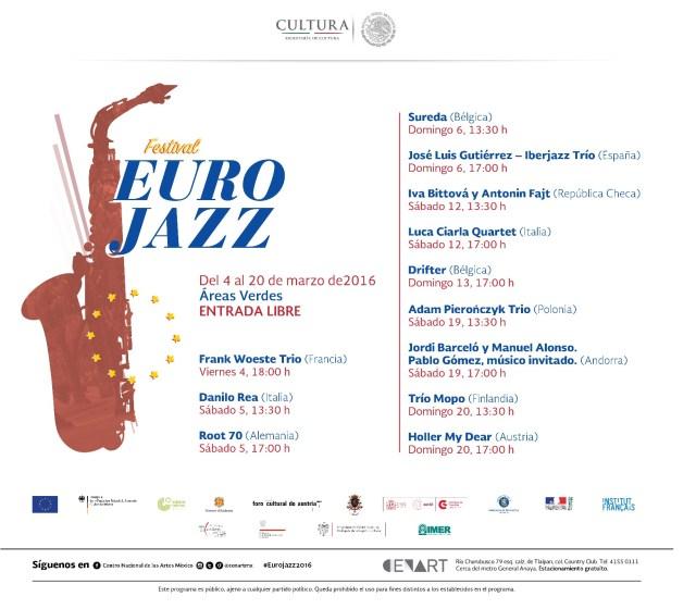 Programación Eurojazz 2016