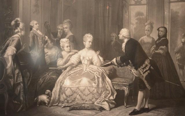 Gabinete Rococó en el Museo Nacional de San Carlos