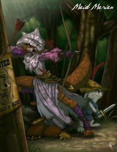 """Belle Marianne """"Maid Marian, Robin Hood"""" Robin des bois"""