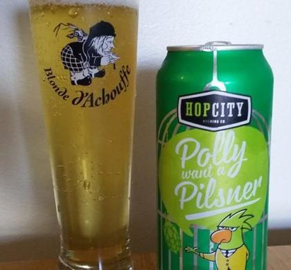 Polly Want a Pilsner de Hop City (Ontario)