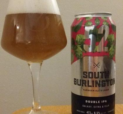 South Burlington (52) Double IPA de Farnham Ale & Lager