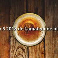 Top 5 2018 de L'amateur de bière