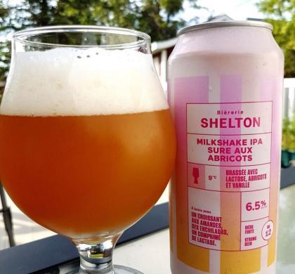 Milkshake IPA Sure aux abricots de Shelton