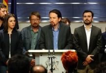 Grupos parlamentarios en la presentación de la moción de censura