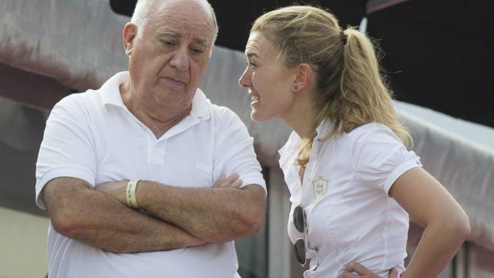 Amancio Ortega y su hija María.