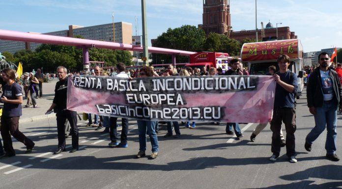 Manifestación por la RBU en Berlín. Foto. Wikimedia.