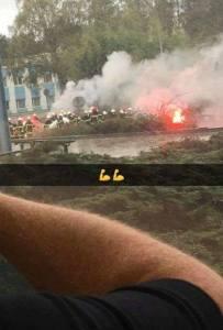 Piquete de los trabajadores de AM Florange contra el intento de externalizar el servicio de Seguridad Industrial de la planta. 24 de octubre de 2017. Foto: Lionel Burriello.